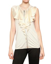 Lanvin | Natural Ruffle Zip Top | Lyst