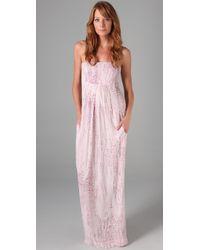 Monrow | Pink Lizzy Print Maxi Dress | Lyst