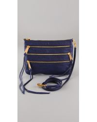 Rebecca Minkoff | Blue 3 Zip Rocker Bag | Lyst