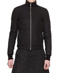 Rick Owens | Black Waxed Cotton Sport Jacket for Men | Lyst