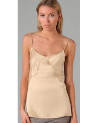 T By Alexander Wang | Natural Silkcharmeuse Camisole | Lyst