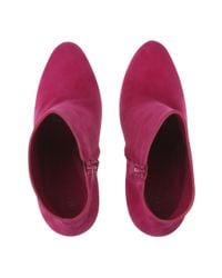 Alexander McQueen   Pink Suede Ankle Boots   Lyst