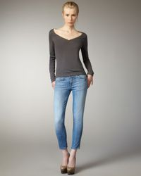 Current/Elliott | Blue Stiletto Canteen Skinny Jeans | Lyst
