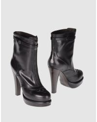 Bottega Veneta | Black Buckled Patent Ankle Boots | Lyst