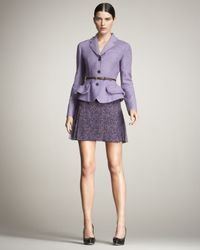 Dior - Purple Printed Pleated Chiffon Skirt - Lyst