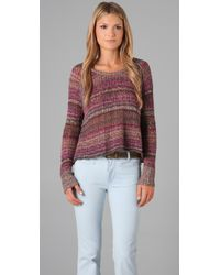 Free People   Pink Lost in The Forest Pullover in Faded Rose   Lyst