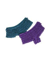 Honeydew Intimates | Blue Set Of 2 - Lace Marie Antoinette Rumba Panties | Lyst
