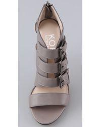 Kors by Michael Kors - Gray Sonoma High Heel Sandals - Lyst