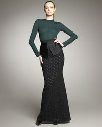 Marc Jacobs - Black Polka-dot Crepe Mermaid Skirt - Lyst
