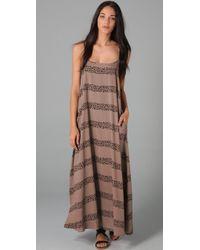 MINKPINK | Brown The Zulu Maxi Dress in Mocha | Lyst