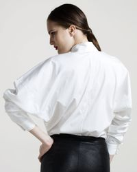 The Row | White Dolman-sleeve French-cuff Blouse | Lyst