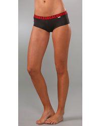 Calvin Klein | Black X Micro Cheeky Shorts | Lyst
