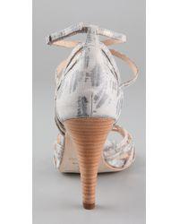 Rebecca Minkoff - Gray Knockout High Heel Sandals - Lyst