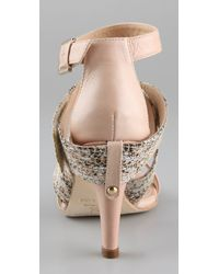 Rebecca Minkoff - Natural Leather Bombshell Wraparound Sandals - Lyst
