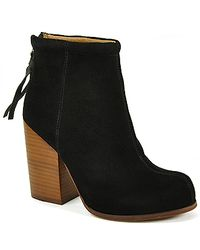 Jeffrey Campbell | Rumble - Black Suede Bootie | Lyst