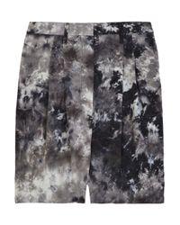 Acne | Black Coral Tie-dye Silk Shorts | Lyst
