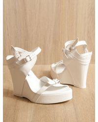 Ann Demeulemeester | White Wedge Sandal | Lyst
