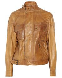 Belstaff | Brown Cougar Perforated-leather Jacket | Lyst