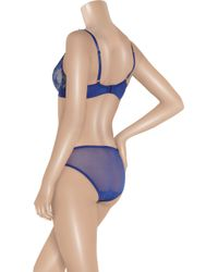 Elle Macpherson | Blue Artistry Lace Underwired D To G Cup Bra | Lyst