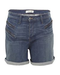 Helmut Lang | Blue Stretch-denim Shorts | Lyst