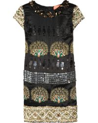 Manoush - Black Beaded Peacock Dress - Lyst
