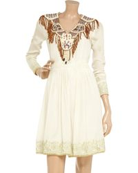 Manoush | White Embellished Silk Dress | Lyst