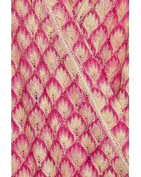 Missoni | Pink Crochetknit Caftan | Lyst