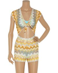 Missoni - Yellow Alabama Cutout Crochet-knit Playsuit - Lyst