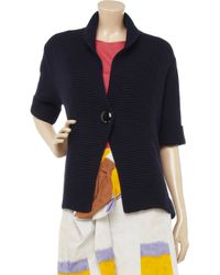N.Peal Cashmere | Blue Crocodile Knitted Cashmere Cardigan | Lyst