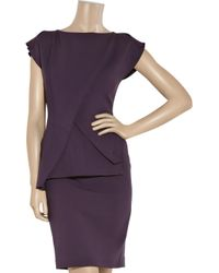 Roland Mouret | Purple Paveau Structured Wool-blend Dress | Lyst