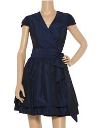 Sara Berman | Blue Gathered Woven Wrap Dress | Lyst