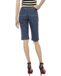 Sonia by Sonia Rykiel - Blue Metallic-trimmed Denim Shorts - Lyst