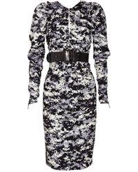 Thomas Wylde - Black Limitless Asymmetric Silk-twill Dress - Lyst