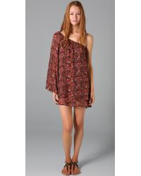 Blu Moon - Red Flower Child Dress - Lyst