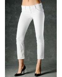 Hudson Jeans | White Beth Baby Boot Crop | Lyst