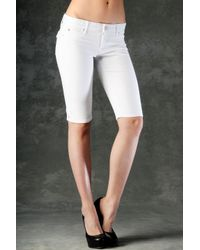 Hudson Jeans | Viceroy Knee Shorts, White | Lyst