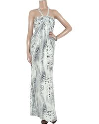 Thurley   Blue Rope Twist Printed Silk Maxi Dress   Lyst