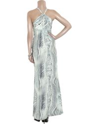 Thurley | Blue Rope Twist Printed Silk Maxi Dress | Lyst