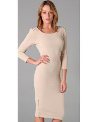 Alice + Olivia - Natural Sonia Side Zip Dress - Lyst