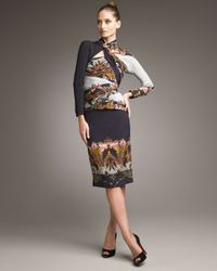 Etro | Black Asymmetric-neck Panel Dress | Lyst