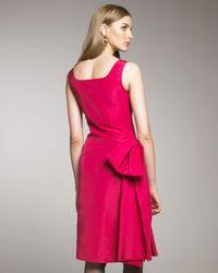 Oscar de la Renta - Pink Side-bow Cocktail Dress - Lyst