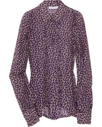 See By Chloé | Purple Butterfly-print Silk-blend Chiffon Blouse | Lyst
