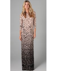 Tibi - Black Ocelot Long Dress - Lyst