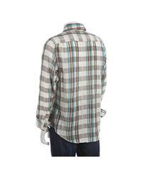 Trovata | Blue Aqua Plaid Santorini Button Down Shirt for Men | Lyst