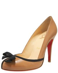 Christian Louboutin | Natural Lavalliere Grosgrain-trim Pump | Lyst