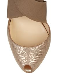 Christian Louboutin - Brown Big Dorcet 120 Textured-leather Pumps - Lyst