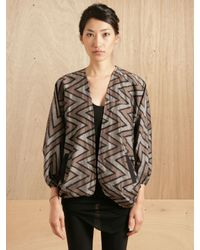 Pow Wow | Gray Womens School Jacket | Lyst