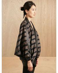 Pow Wow - Gray Womens Striped Bat Jacket - Lyst