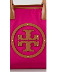 Tory Burch - Purple Stacked Logo Classic Tote - Lyst