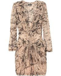 By Malene Birger | Pink Prinsiepa Printed Silk-georgette Dress | Lyst
